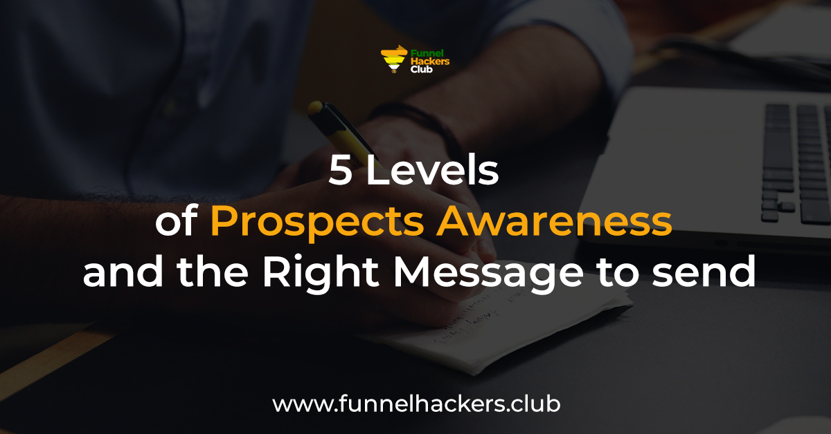 5 levels of prospects awareness and the right message to send
